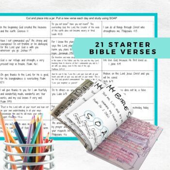 Bible Study and Devotional Using SOAP Acronym