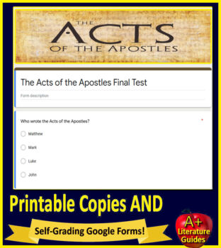 Bible Study for Middle and High School Students - The Acts of the Apostles