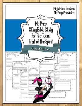Bible Study for PreTeens- No Prep- Fruit of the Spirit- Ge
