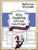 Bible Study for PreTeens- No Prep- Fruit of the Spirit- Patience