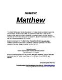 Bible Study of The Gospel of Matthew