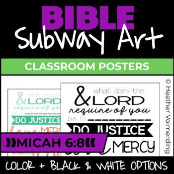Bible Subway Art: Micah 6.8