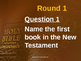 Bible Table Quiz