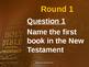 Bible Table Quiz
