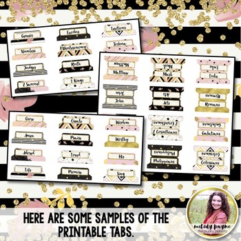Bible Tabs {Printable Chic & Glam Tabs for Your Bible}