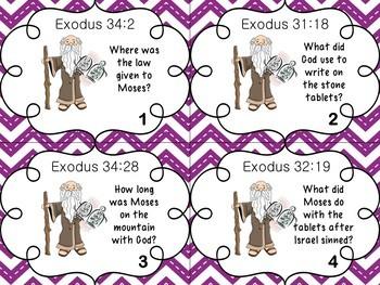 Bible Task Cards: 10 Commandments