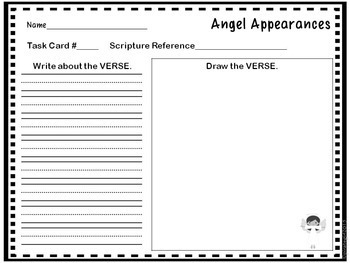 Bible Task Cards: Angel Appearances
