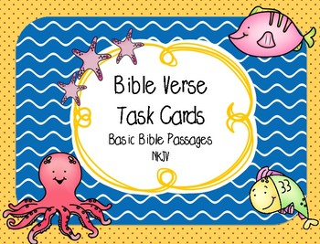 Bible Task Cards (Basic Memory Verses for Elementary Grades)
