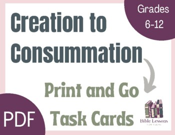 Bible Task Cards: Creation to Consummation
