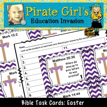 Bible Task Cards: Easter