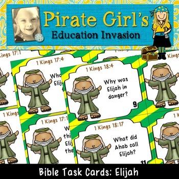Bible Task Cards: Elijah