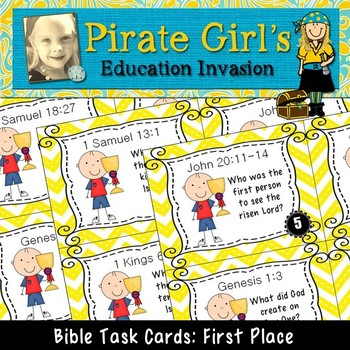 Bible Task Cards: First Place (firsts in the Bible)