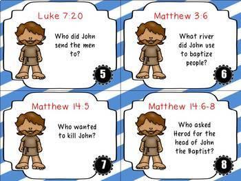 Bible Task Cards: John the Baptist