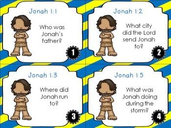 Bible Task Cards: Jonah