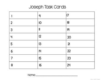 Bible Task Cards: Joseph