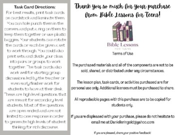 Bible Task Cards: Lessons from the Apostles