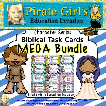 Bible Task Cards: MEGA Bundle #3 (Character Series)