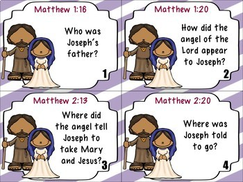 Bible Task Cards: Mary and Joseph