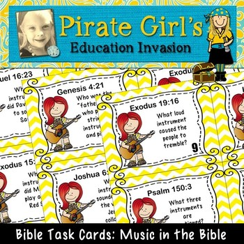 Bible Task Cards: Music in the Bible