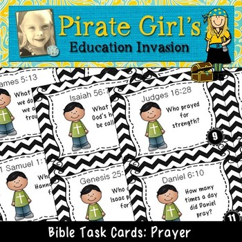 Bible Task Cards: Prayer