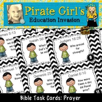 Bible Task Cards: Prayer