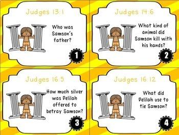 Bible Task Cards: Samson