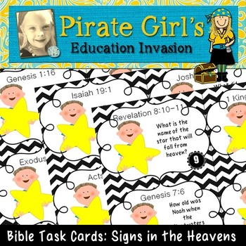 Bible Task Cards: Signs in the Heavens