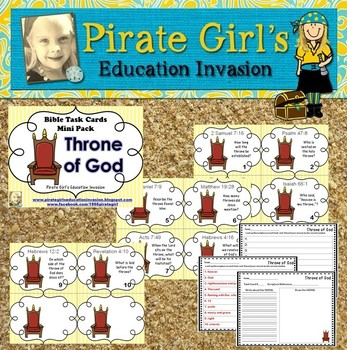 Bible Task Cards: Throne of God (mini pack)