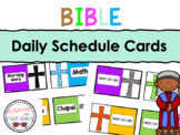 Bible Theme Daily Schedule Cards