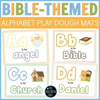 Bible-Themed Alphabet Play Dough Mats