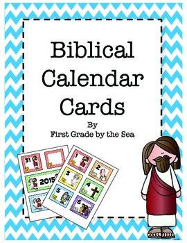 Bible Themed Calendar Cards