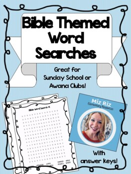 Bible Themed Word Searches! {Great for Awana or Sunday School!}