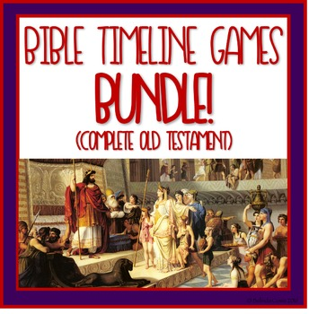 Bible Timeline Games and Three Part Cards Bundle - Complete Old Testament!