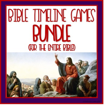 Bible Timeline Games and Three Part Cards Bundle - The Entire Bible!