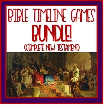 Bible Timeline Games and Three Part Cards Complete New Testament Bundle!