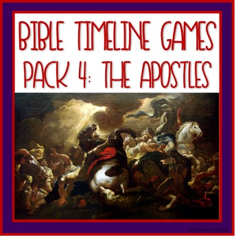 Bible Timeline Games and Three Part Cards Pack 4