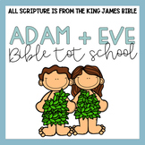 Bible Tot School: Adam + Eve Plans, Printables, + Hands On
