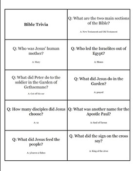 Bible Trivia Worksheets & Teaching Resources | Teachers Pay Teachers