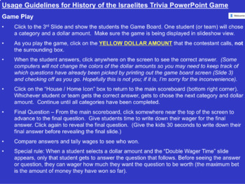 Bible Trivia Game   History of the Israelites from the Old Testament