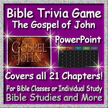 Bible Quiz Show - The Gospel of John Bible Jeopardy Style Review Game