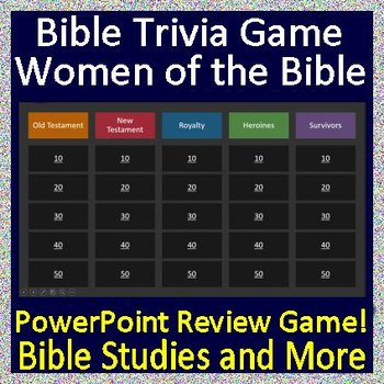 Bible Quiz Show - Women of the Bible Jeopardy Style Review