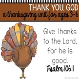Thanksgiving Bible Unit