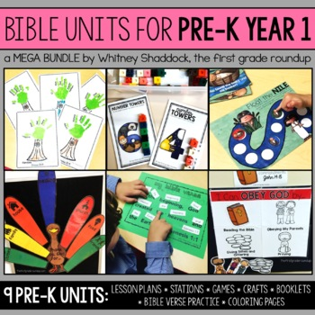 Bible Units for Preschool, Year 1 BUNDLE