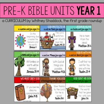 Bible Units for Preschool, Year 1 BUNDLE