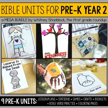 Bible Units for Preschool, Year 2 BUNDLE