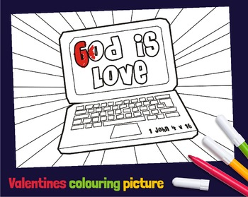 Bible Love themed coloring pictures