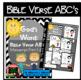 Bible Verse ABC's (God's Word Black Chevron, Manuscript Print Edition)