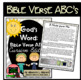 Bible Verse ABC's (God's Word {Farmhouse} Neutral Chevron, Cursive Edition)