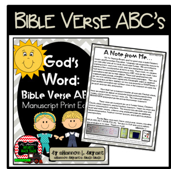 Bible Verse ABC's (God's Word {Farmhouse} Neutral Chevron, Manuscript Edition)