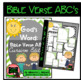Bible Verse ABC's (God's Word Green Chevron, Cursive Edition)